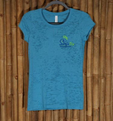 Surf's Up burnout tee in turquoise