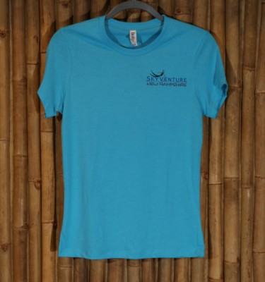 Ladies' live free and fly in turquoise