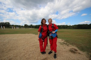 Tiff and I after our jump!