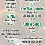 alcohol table menu flat