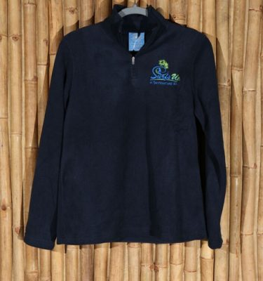 Navy Surf's Up ladies' microfleece