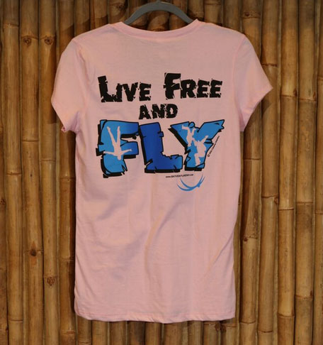 Ladies' live free and fly in pink