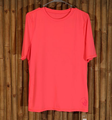 neon pink ladies' loose fit rash guard